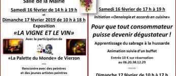 Exposition et initiation à l'œnologie et les accords en cuisine